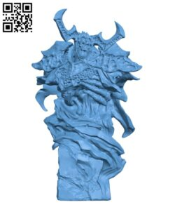 Undead Knight Bust H000466 file stl free download 3D Model for CNC and 3d printer