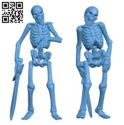 Undead Skeleton Swordsmen H000467 file stl free download 3D Model for CNC and 3d printer