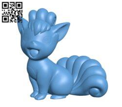 Vulpix(Pokemon) H000403 file stl free download 3D Model for CNC and 3d printer
