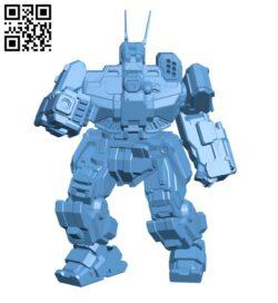 WVR-6M Wolverine for Battletech – Robot  H000445 file stl free download 3D Model for CNC and 3d printer