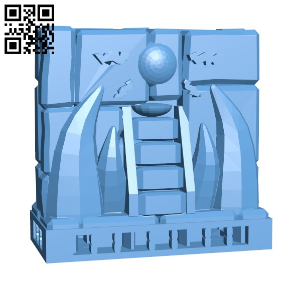 Wall - Ornament temple H000048 file stl free download 3D Model for CNC and 3d printer
