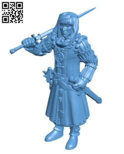 Warrior, soldier, commander, partisan and patriot H000444 file stl free download 3D Model for CNC and 3d printer