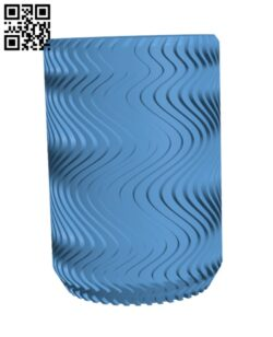 Wavy Can Coozie H000187 file stl free download 3D Model for CNC and 3d printer