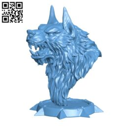 Werewolf bust H000251 file stl free download 3D Model for CNC and 3d printer