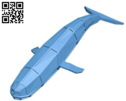 Robot whale lowpoly H000078 file stl free download 3D Model for CNC and 3d printer