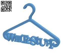 White Stuff Super Miniature Coat hanger H000079 file stl free download 3D Model for CNC and 3d printer