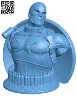Wicked Marvel Avengers Captain America 3d Bust H000019 file stl free download 3D Model for CNC and 3d printer