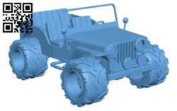 Willys Jeep H000188 file stl free download 3D Model for CNC and 3d printer