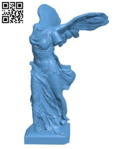 Winged Victory of Samothrace at The Louvre, Paris H000320 file stl free download 3D Model for CNC and 3d printer