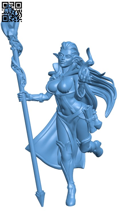 Witch H000091 file stl free download 3D Model for CNC and 3d printer