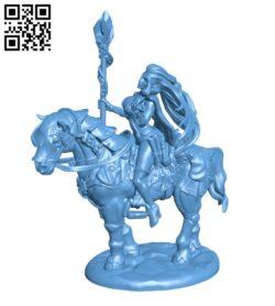Witch on Horseback H000300 file stl free download 3D Model for CNC and 3d printer