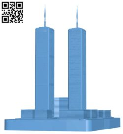 World Trade Center – New York City, USA H000220 file stl free download 3D Model for CNC and 3d printer