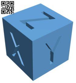 XYZ 20mm 3D printer Calibration Cube H000189 file stl free download 3D Model for CNC and 3d printer