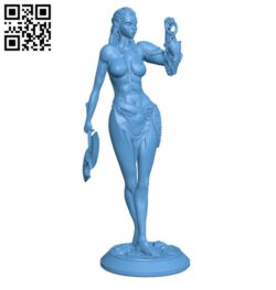 Yesh'ra Orc Warrior female with skull lantern H000163 file stl free download 3D Model for CNC and 3d printer