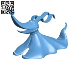 Zero – The Nightmare Before Christma H000405 file stl free download 3D Model for CNC and 3d printer