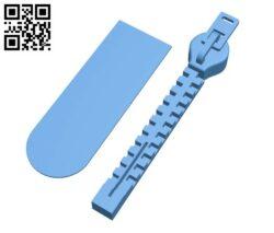 Zip Bookmark H000050 file stl free download 3D Model for CNC and 3d printer