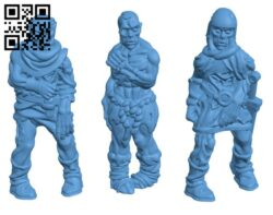 Zombies Set  H000301 file stl free download 3D Model for CNC and 3d printer