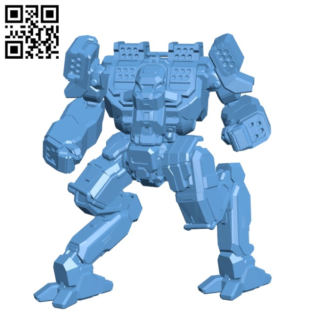 ARW-Prime Arctic Wolf for Battletech - Robot H000752 file stl free download 3D Model for CNC and 3d printer