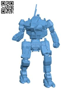 ASN-21 Assassin for Battletech – Robot H000753 file stl free download 3D Model for CNC and 3d printer