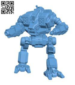 AV1-O Avatar for Battletech – Robot H000722 file stl free download 3D Model for CNC and 3d printer