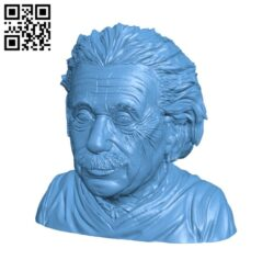 Albert Einstein Bust H000548 file stl free download 3D Model for CNC and 3d printer