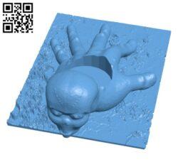 Alien Candle Holder H001081 file stl free download 3D Model for CNC and 3d printer