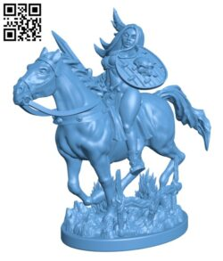 Amazon Warrior Rider H000549 file stl free download 3D Model for CNC and 3d printer