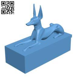 Anubis Shrine H000751 file stl free download 3D Model for CNC and 3d printer