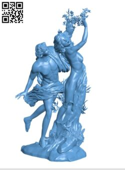 Apollo and Daphne at the Galleria Borghese, Rome H000691 file stl free download 3D Model for CNC and 3d printer