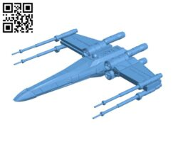 Articulated X-wing H000577 file stl free download 3D Model for CNC and 3d printer