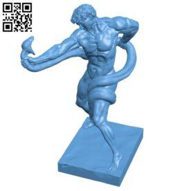 Athlete Wrestling a Python H000632 file stl free download 3D Model for CNC and 3d printer