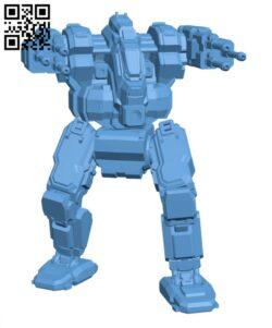 BJ-A Blackjack (Arrow) for Battletech – Robot H000661 file stl free download 3D Model for CNC and 3d printer