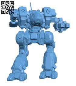 BKL-Prime Black Lanner for Battletech – Robot H000842 file stl free download 3D Model for CNC and 3d printer