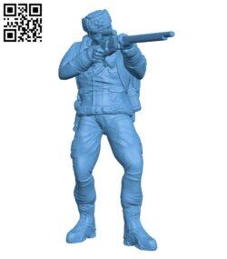 Bandit Sniper – Gunner H000692 file stl free download 3D Model for CNC and 3d printer