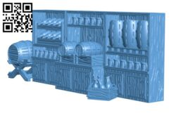 Bar Back and Accessories H000578 file stl free download 3D Model for CNC and 3d printer