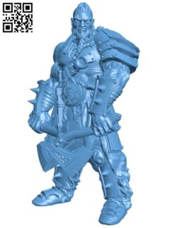 Barbarian Champion H000520 file stl free download 3D Model for CNC and 3d printer