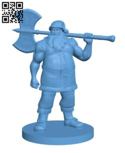 Barbarian Santa Claus H001021 file stl free download 3D Model for CNC and 3d printer