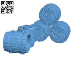 Barrels H000723 file stl free download 3D Model for CNC and 3d printer