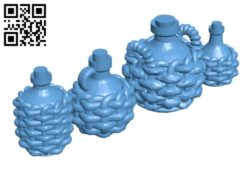 Basket Bottles H000813 file stl free download 3D Model for CNC and 3d printer