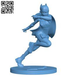 Batgirl H000840 file stl free download 3D Model for CNC and 3d printer