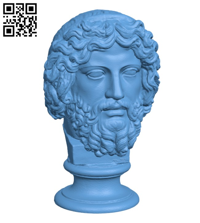Bearded Diety, Zeus H000693 file stl free download 3D Model for CNC and 3d printer