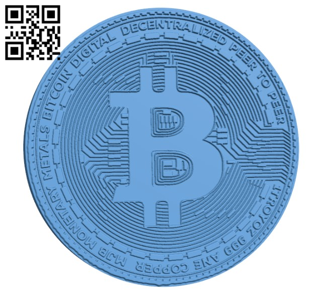 Bitcoin H000694 file stl free download 3D Model for CNC and 3d printer