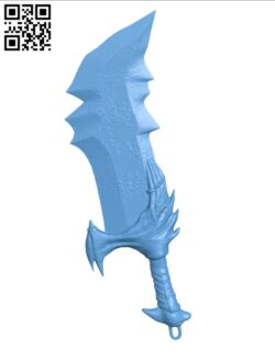 Blades of Chaos – God of War H000551 file stl free download 3D Model for CNC and 3d printer