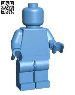 Blank Giant Minifig H000608 file stl free download 3D Model for CNC and 3d printer