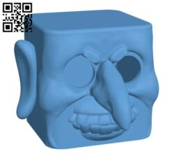Bob the Biped Halloween Head H001023 file stl free download 3D Model for CNC and 3d printer