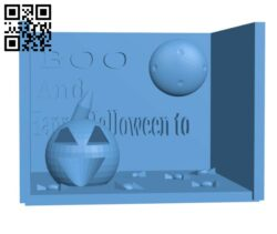 Boo and happy halloween to H001024 file stl free download 3D Model for CNC and 3d printer