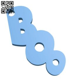 Boo earring H000932 file stl free download 3D Model for CNC and 3d printer
