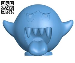 Boo from Mario games H000871 file stl free download 3D Model for CNC and 3d printer