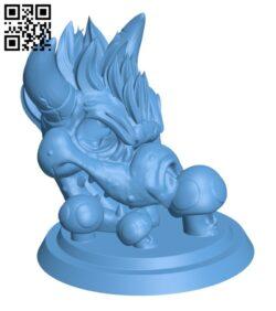 Bowser Skull Incense Holder Statue H000904 file stl free download 3D Model for CNC and 3d printer