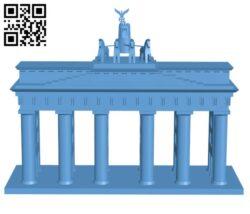 Brandenburg Gate H000872 file stl free download 3D Model for CNC and 3d printer